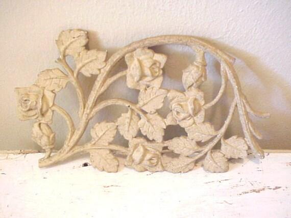 Salvaged Iron Rose Trellis Pediment