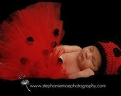 Ladybug Tutu Costume - For Birthdays, Dress Up, Photos, Halloween and more - up to size 24 mo
