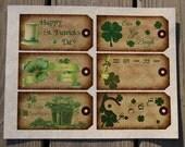 Set of 12...Luck of the Irish...Hang Tags