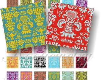 Damask for pendant, scrapbook and more collage sheet No.116