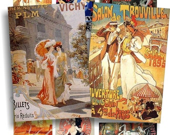 Vintage Advertizing images for cards, ACEO, ATC, scrapbook and more Digital Collage Sheet 3 X 2 inch No.438