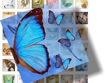 Lovely Butterflies digital collage sheet sheet No.31
