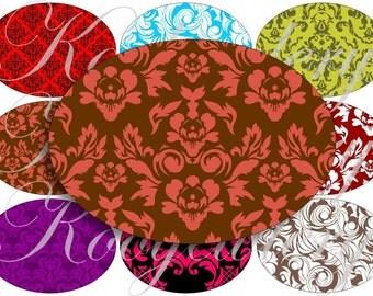Damask patterns images large oval for belt buckle and more digital collage sheet No.471