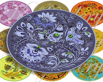 Arabesque patterns large oval for belt buckle and more digital collage sheet No.636
