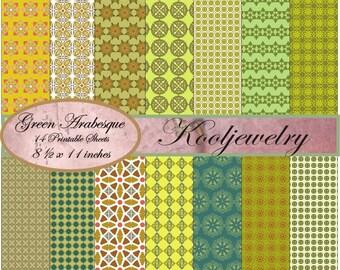 Arabesque designs digital paper pack - No.47