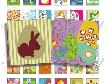 Happy Easter designs 1x1 inch for pendant, scrapbook and more Digital Collage Sheet No.690