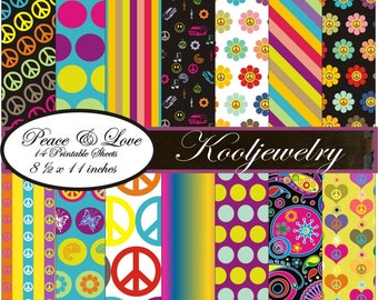 Peace and Love paper package 1 - No.5