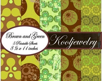 Brown and green paper pack - No.59