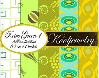 Retro Green paper pack - No.56