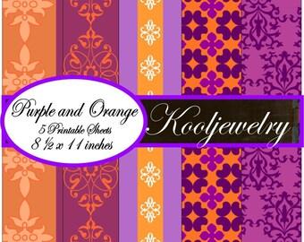 Purple and Orange paper Pack - No.44