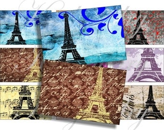 I love Paris images for belt buckle, ACEO, scrapbook and more Digital Collage Sheet 3 X 2 inch No.872