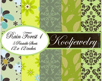Rain forest digital paper pack - No.28
