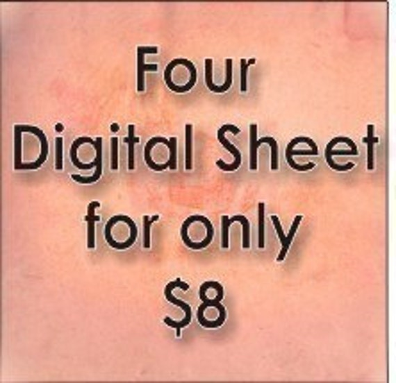 Buy Four For Only 8 DOLLARS Backgrounds digital collage for ATC, Aceo, ScrapBooking, Altered ArT - Download JPEG format