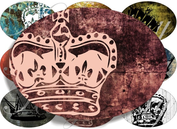 New crowns images large oval for belt buckle and more digital collage sheet No.742