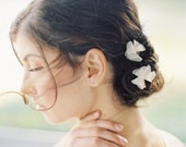Anna Floral Silk Bobby Pins with pearls