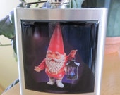 Gnome Liquor Hip Flask Stainless Steel 6 Ounce