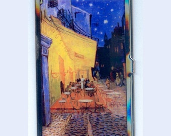 Vincent Van Gogh Night Cafe Brass Business Card Case