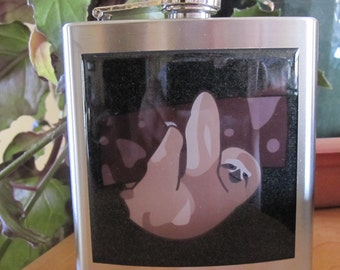 Sloth Liquor Hip Flask