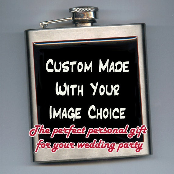 SPECIAL Wedding Offer Buy 4 get 1 FREE or Buy 1 Custom Designed Liquor Hip Flask Personalized Image