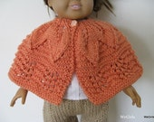 Knitting Pattern for 18 inch American Girl Doll Leafy Lace Shawl knit top down easy Instant Download now available