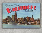 Vintage Baltimore Postcard Save the Date