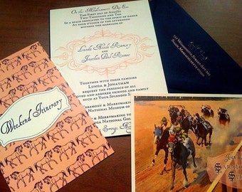 Saratoga Springs Horse  Wedding Invitations