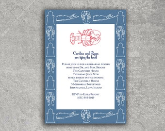Save the Date - Rehearsal Dinner - Shower - Lobster Long Island New England
