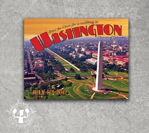 Washington DC Postcard Save the Date