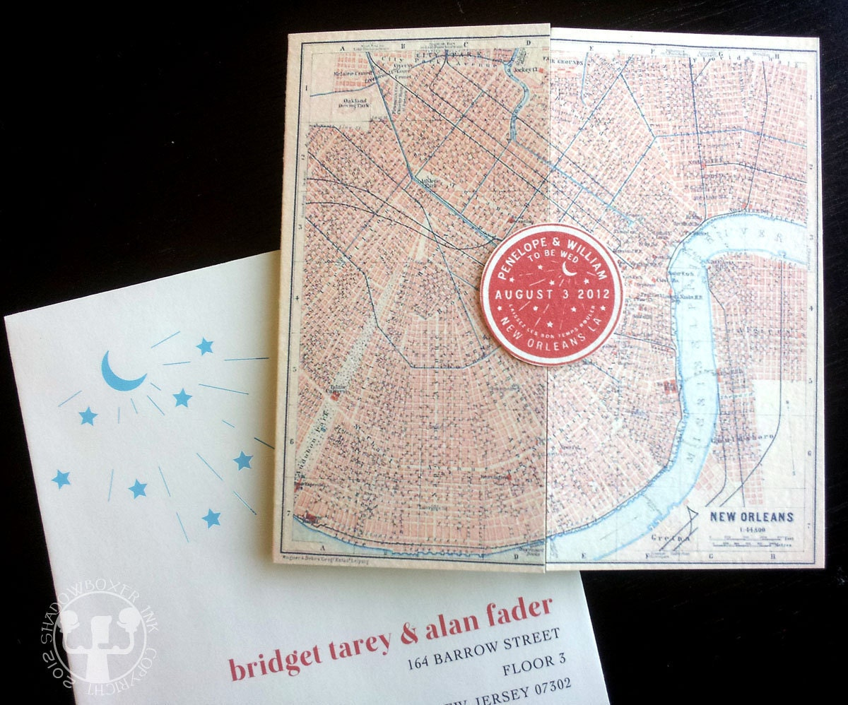 New Orleans Wedding Invitation New Orleans Water Meter Wedding Invitation Or By