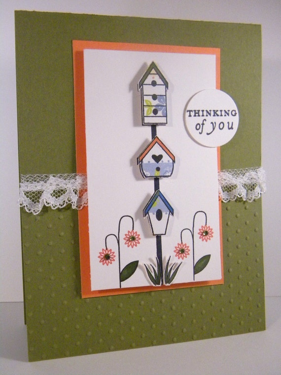 thinking of you handmade card by justdandystudio on etsy