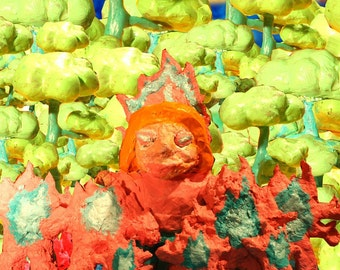 Melting Face Woman and Her Seven Pink Monsters of Enraged Fire