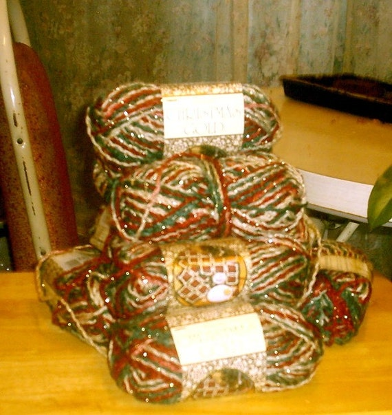 Caron Victorian Christmas Gold Ombre yarn