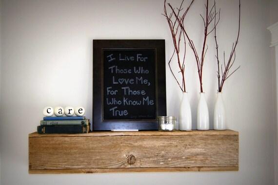 items similar to floating wood shelf box shelf recycled. Black Bedroom Furniture Sets. Home Design Ideas