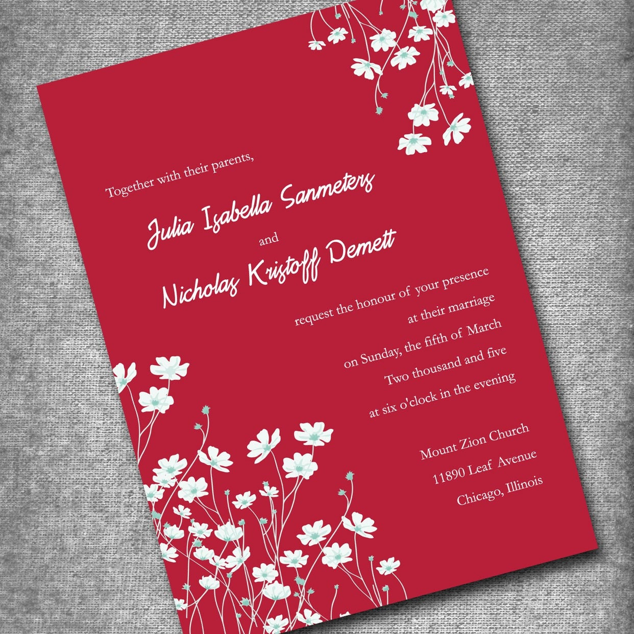 When Should Wedding Invitations Be Ordered: Wedding Invitation Set Of 50 Invites Thanks By Moncherdesigns