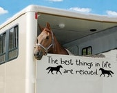 The best things in life are rescued horse decals