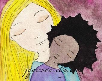 Adoption art Daughter's Day