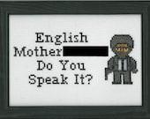 PATTERN - Jules - English Mofo Pulp Fiction Cross Stitch