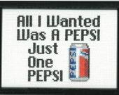 Suicidal Tendencies Pepsi Cross Stitch