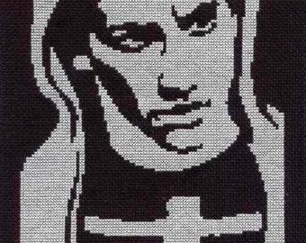 PATTERN -  Donnie Darko Cross Stitch