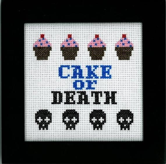Eddie Izzard - Cake or Death Cross Stitch
