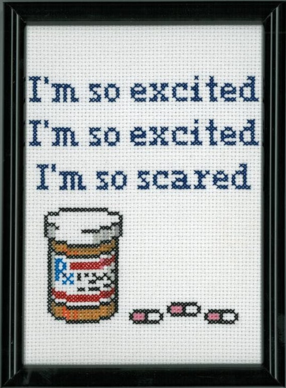 I'm so Scared Cross Stitch