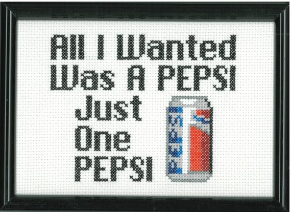 Suicidal Tendencies Pepsi Cross Stitch