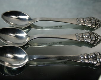 Danish Sterling Spoons and Opener-Vintage Circa 1930's 4 pc