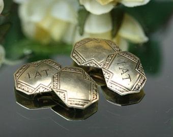 10k Antique Yellow Gold Cufflinks