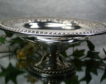 International Sterling Weighted Bowl- Vintage candy bowl