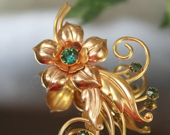 Vintage Gold Filled Fower Brooch