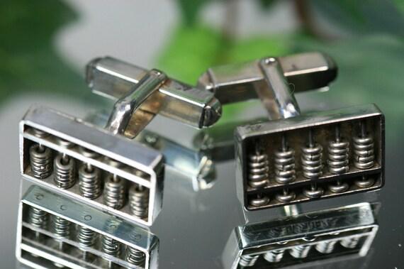 Sterling Abacus Cufflinks-Vintage