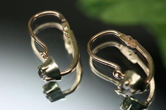 Antique 10k Dormeuse Earrings