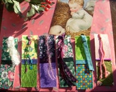 FABRIC COVERED BOOKMARKS OOAK PIF