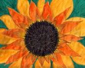 Watercolor Print- 'Garden Sun' 12x15